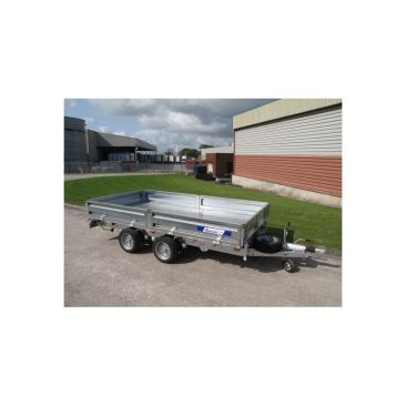 """Braked 10' x 6'6"""" Twin Axle Flatbed Trailer"""