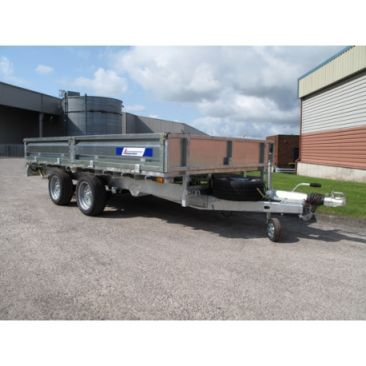"""Braked 12' x 6'6"""" Twin Axle Flatbed Trailer"""