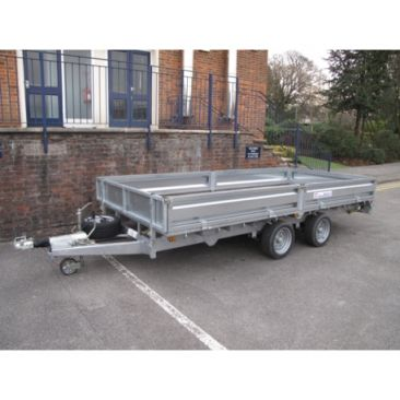 """Braked 16' x 6'6"""" Twin Axle Flatbed Trailer"""
