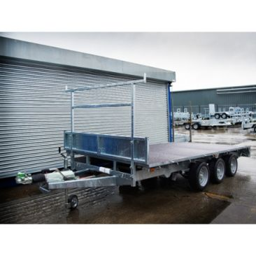 "Braked 14' x 6'6"" Triple Axle Flatbed Trailer"