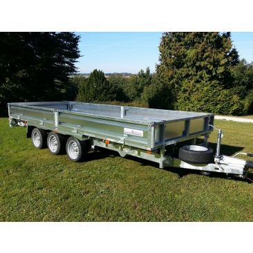"Braked 16' x 6'6"" Triple Axle Flatbed Trailer"