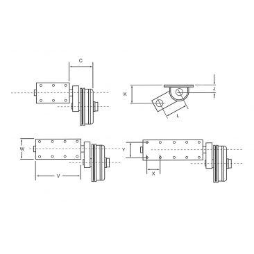 Indespension 1900kg Braked Flexiride RH Unit 250mm Drum (Knott Brakes)